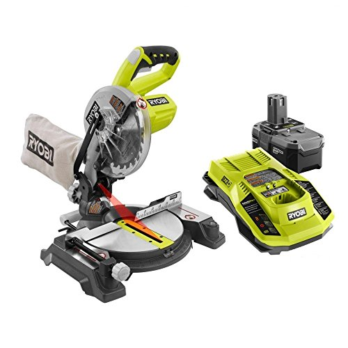 Factory Reconditioned Ryobi ZRP551 One Plus 18-Volt 7-1/4 in. Miter Saw Kit (Battery & Charger Included)
