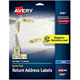 "Avery Gold Address Labels for Inkjet Printers, 3/4"" x 2-1/4"", 300 Labels (8987)"