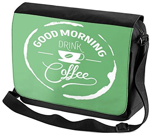 Umhänge Schulter Tasche Kaffee Guten Morgen bedruckt B0rMbsY
