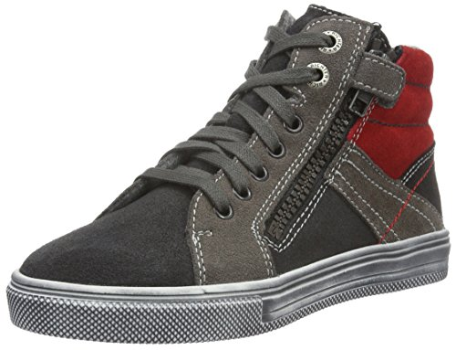 Richter KinderschuheOla - Zapatillas para niños Gris (steel/pebble/fire 6501)