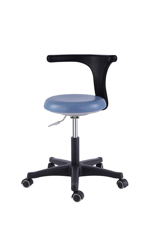 Dental Office Stools Assistant's Stools Medical Adjustable Mobile Chair PU Black (14#)