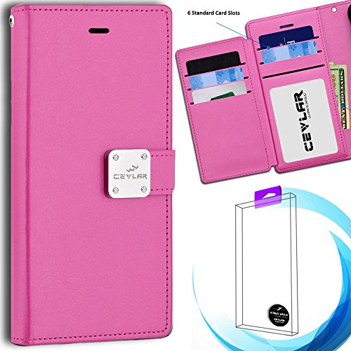 Price comparison product image Cevlar Samsung Galaxy J3 Emerge Samsung Galaxy J3 Prime Samsung Galaxy J3 2017 Tri Layer Wallet Phone Case Flip Phone Cover with ID Slot