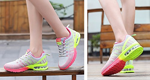 Cushion Sneakers Pink Air Flyknit Running Shoes Town Womens No Fashion 66 Grey Athletic WvfTq7B7