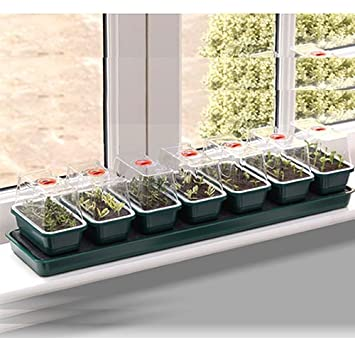 Garland Super 7 Self Watering Propagator G136 Windowsill Greenhouse Seed Grow