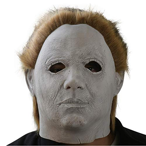 Michael Myers Mask Halloween Cosplay Horror Full Face Mask Scary Movie Character Adults Costume Props Toy ()