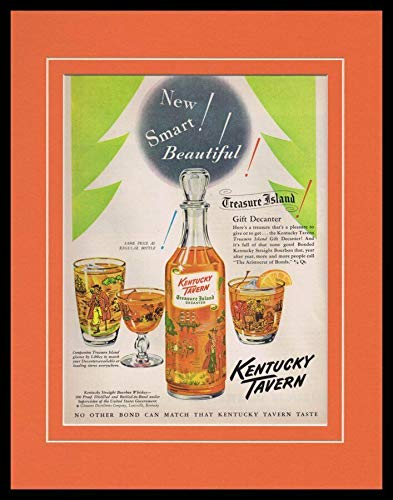(1951 Kentucky Tavern Bourbon Whiskey Framed ORIGINAL Vintage Advertisement)