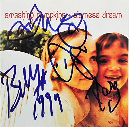 Smashing Pumpkins (4) Corgan, Wretzky +2 Signed Cd Insert W/ Disk BAS #A39038 - Beckett Authentication