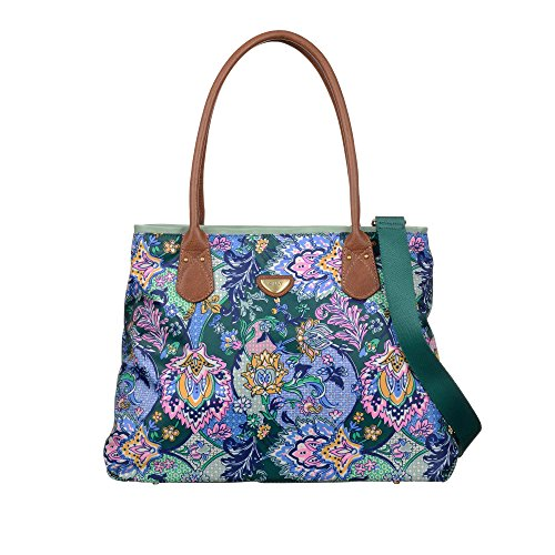 Oilily French Paisley Shopper Emerald