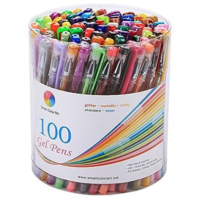 Smart Color Art 100 Colors Gel Pen Set by Smart Color Art