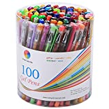 Smart Color Art 100 Colors Gel Pen Set for Adult Coloring Books Drawing Painting Writng