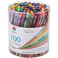 Smart Color Art 100 Colors Gel Pens Set for Adult...