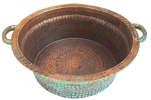 Egypt gift shops Petite Oxidized Foot Bath Massage Therapy Pedicure Bowl Bird Bowl by Egypt Gift Shops