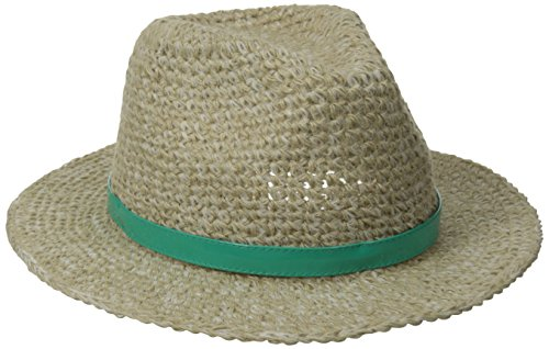 pistil Women's Cassidy Fedora Hat, Natural (Patent Leather Hat Band)