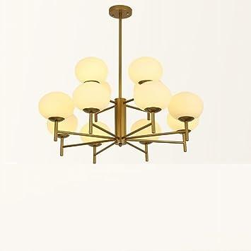 Jiaa Living Room Branch Shape Chandelier Bedroom Meal Molécula de Judía Mágica,Oro,3