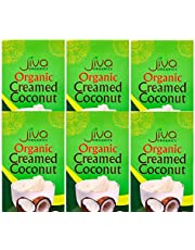 Jiva Organics Organic Creamed Coconut Unsweetened 7 Ounce Package - Pack of 6 (Total 2.6 LB)