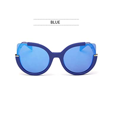 Wang-RX Moda gafas de sol de gran tamaño Vintage Espejo ...