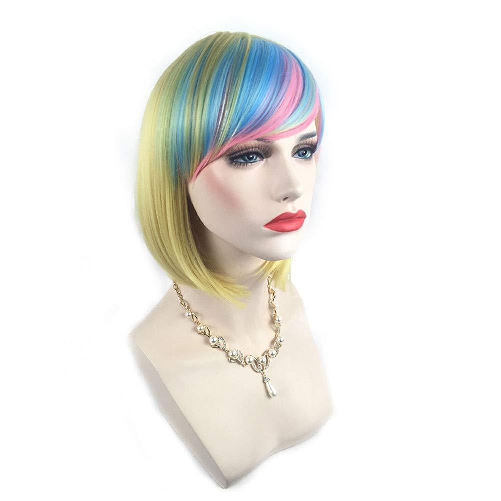 Perucken Haarteile Perucken Haarteile Blonde Kurze Haare Bunte