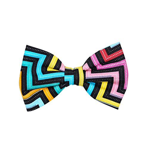 THE DOK Retro American Stripe – Dog Cat Pet Bow Tie Bowtie Collar Accessory 4 inch
