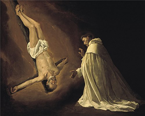 Oil Painting 'Zurbaran Francisco De The Apostle Saint Peter Appearing To Saint Peter Nolasco 1629' 18 x 23 inch / 46 x 57 cm , on High Definition HD canvas - Hours Niles Target