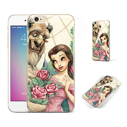 GSPSTORE iPhone 7 Plus Case,Beauty And The Beast Disney cartoon Soft Transparent TPU Protector iPhone Case Cover for iPhone 7 Plus (5.5Inch)