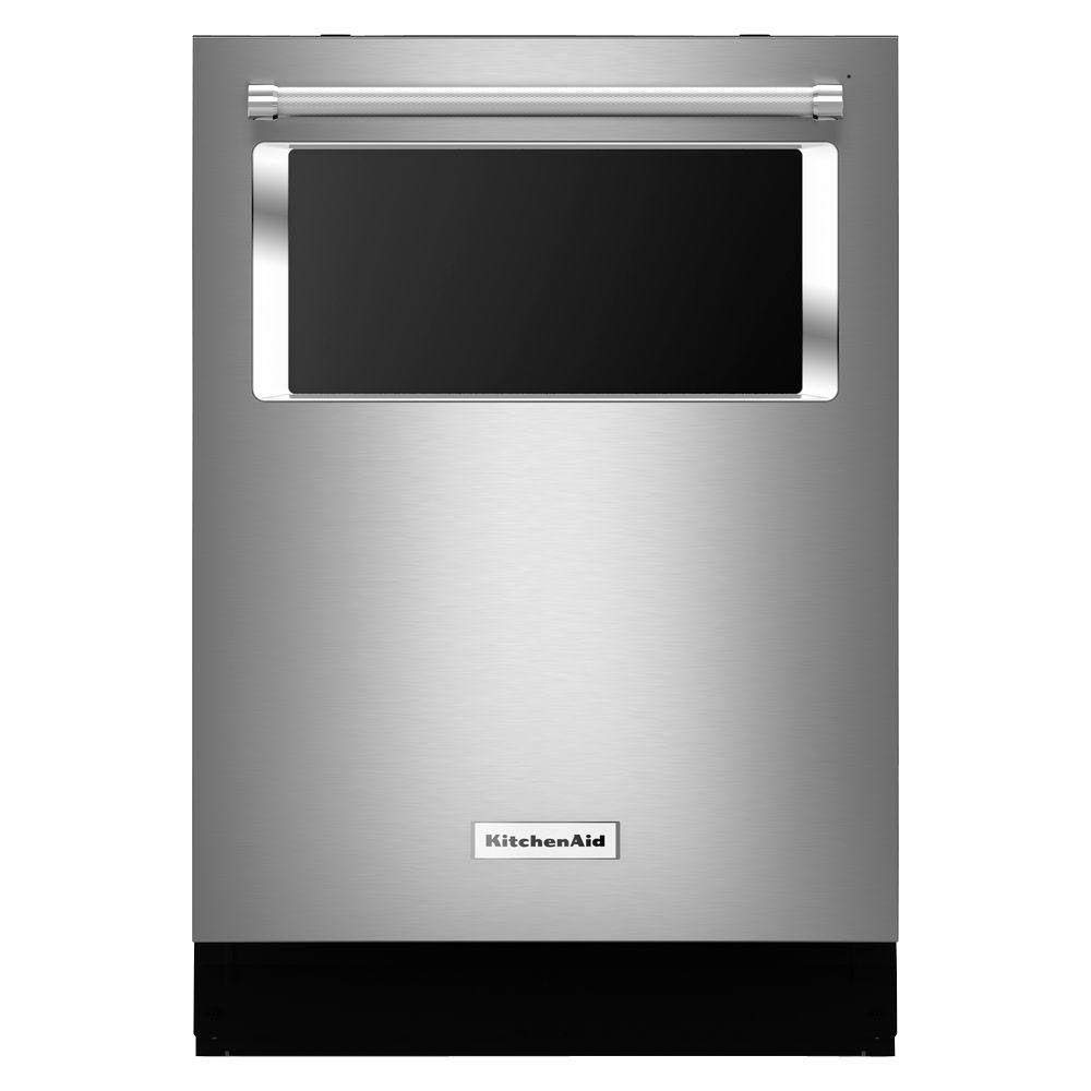 2.KITCHENAID KDTM384ESS 6 Cycles, 7 Options, Fully Integrated, 44 Dba, Proscrub, Pro Dry, Satin Glide Max Upper, Premium Adjusters, Microfiltration, Glass Window In Door