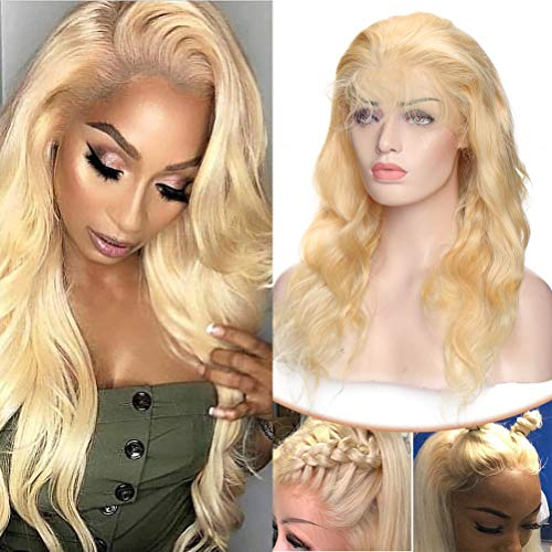 Blonde Human Hair Wigs Lace Front 20