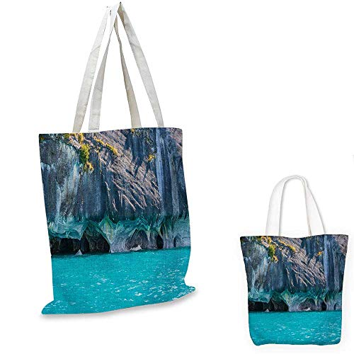 Turquoise easy shopping bag Marble Caves of Lake General Carrera Chile South American Natural emporium shopping bag Turquoise Purplegrey Green. 14