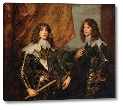 Portrait of The Princes Palatine Charles-Louis I and his Brother Robert by Sir Anthony Van 'Dyck - 19