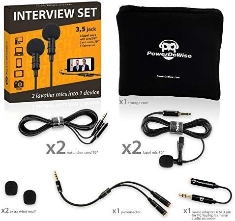 Lavalier Lapel Microphones Dual Interview product image
