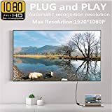 ETbotu VGA to HDMI Adapter 1080P HD Audio TV AV HDTV Video Cable with Audio