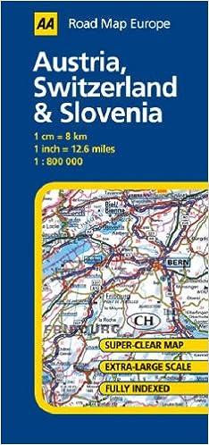 Austria, Switzerland and Slovenia (AA Road Map Europe Series ...