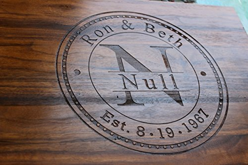 Anniversary Gifts for Men - Personalized Cutting Board - Anniversary Gift - Wedding Gift by NakedWoodWorks