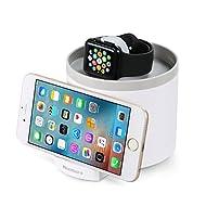 MixMart Station de Recharge pour Apple Watch 3 Ports USB Station d'accueil pour iPhone 7 Plus, iPhone 7,iPhone SE, iPhone 6 Plus, iPhone 6, iPhone 6s, iPad Pro (Blanc)