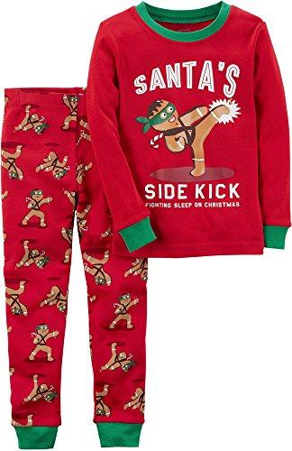 Price comparison product image Carter's Boys' 4-12 2 Piece Gingerbread Snug Fit Cotton Pajamas 5