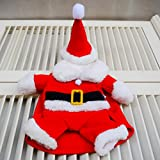 UHeng Funny Pet Dog Suit Christmas Costumes Winter Hoodies Xmas Santa Clothes