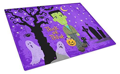 Caroline's Treasures VHA3021LCB Halloween Frankie Frankenstein Glass Cutting Board Large, 12H x 16W, multicolor