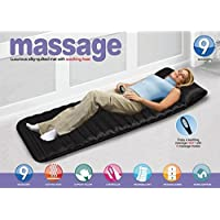 Cartshopper Heating Vibrating Head Neck Leg Massager Bed Cushion with Remote Control for Massage (160x55cm,Black)