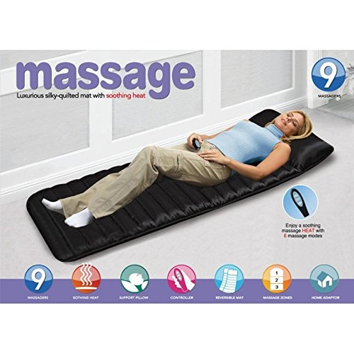 Heating Vibrating Body Massager Bed Cushion with Remote Control