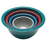 Zak! Designs Confetti Mixing Bowls (4 Piece Set), Durable and BPA-free Melamine, Urban