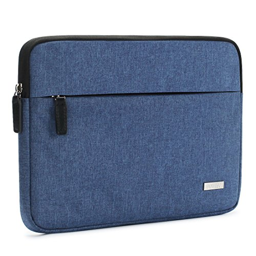 DOMISO Canvas Shockproof 15.6 Inch Laptop Sleeve Tablet Protective Case Anti-shock Padding Computer Bag for 15.6