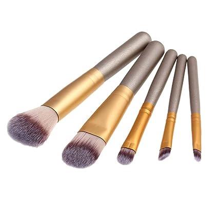 clifcragrocL Set Brochas Maquillaje,5Pcs/Set Wood Handle ...