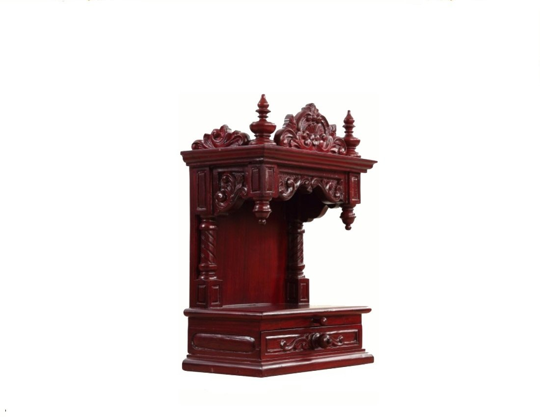 Awesome Wooden Pooja Mandir Designs For Home Collection - Home ...