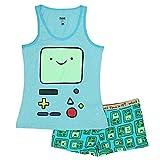 Adventure Time Cartoon Network Womens Pajama Set (X-Small, Beemo Blue)