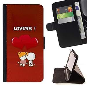 Momo Phone Case / Flip Funda de Cuero Case Cover - Lindo amantes Coupkle - HTC One M9
