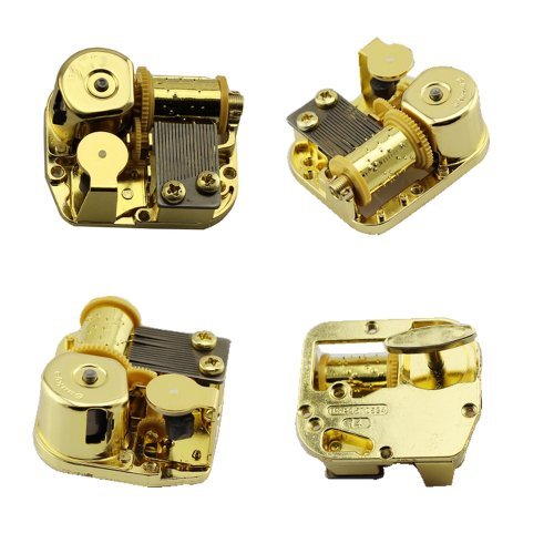 Hleeduo® Gold Plating 18 Note Musical Movement---different Tunes Available (Tune Is Lilium From Elfen (Musical Movement)