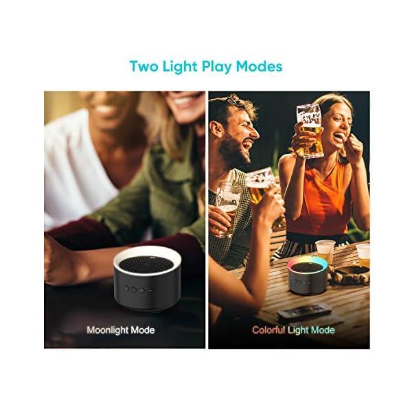 Enceinte Bluetooth Portable TWS AXLOIE Haut-parleur Bluetooth 5.0 sans Fil Basse Profonde Stéréo HiFi pour Carte TF / AUX Appels Mains Libres Micro Intégré 10H de Lecture pour iOS Android Tablette etc 3