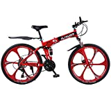 Altruism X9 Folding Bicycles for Mens Aluminum Road Bicycle Mountain Bike 21 speed 26 inch Downhill Bikes (Red) Review