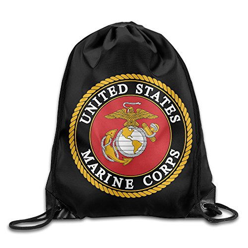 [Drawstring Backpack Bag US Marine Corps] (Us Marines Costumes)