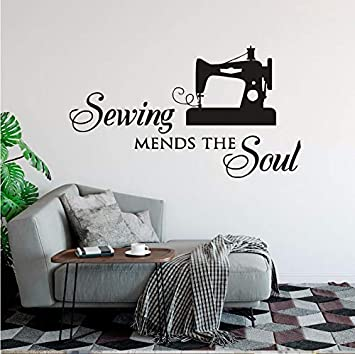 Lovemq Sewing Mends The Soul Tatuajes De Pared Costurera Etiqueta ...