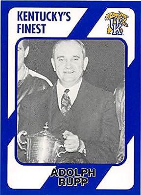 Adolph Rupp Basketball Card (Kentucky Wildcats, Coach) 1989 Collegiate Collection #141